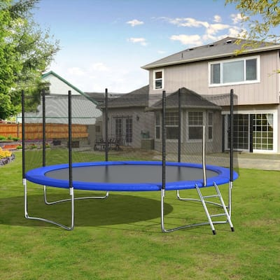 Outdoor Exercise Fitness Trampoline with Basketball Hoop