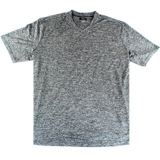 Alfani NEW Gray Mens Size LT V-Neck Marled-Knit Moisture Wicking Shirt