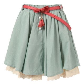 Richie House Little Girls Teal Ivory Lace Hem Pearl Accented Belted Skirt 2-6 (Option: 5)|https://ak1.ostkcdn.com/images/products/is/images/direct/775fb692f862d758bd06244479a07c0e5dbe2406/Richie-House-Little-Girls-Teal-Ivory-Lace-Hem-Pearl-Accented-Belted-Skirt-2-6.jpg?impolicy=medium