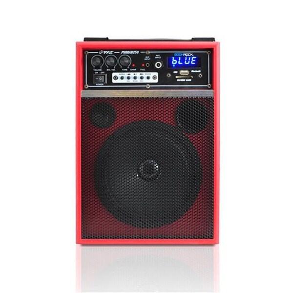 Pyle 300 Watt Bluetooth 6.5 in. Portable PA Speaker System, Red