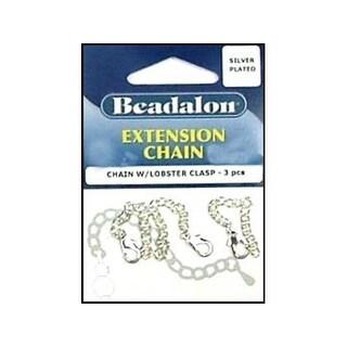 "Beadalon Extension Chain 2"" Lbstr Clasp Slvr 3pc"