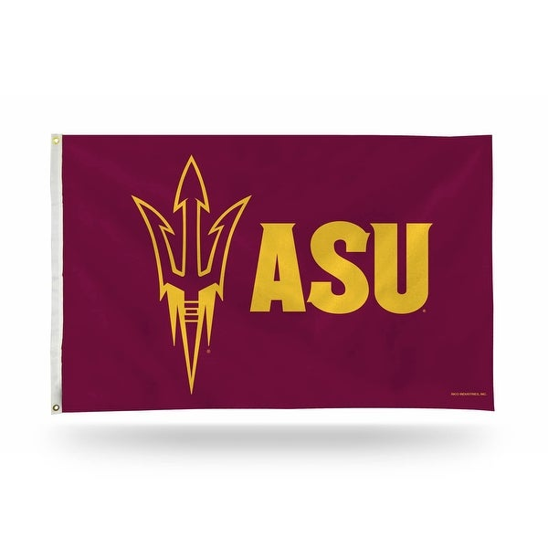 3' x 5' Magenta Purple and Yellow College Arizona State Sun Devils Large Banner Flag - N/A