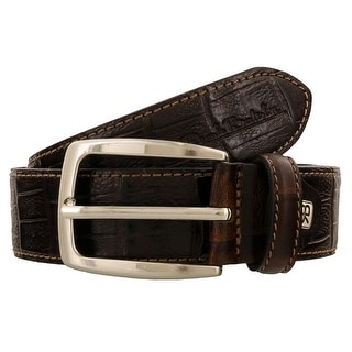 Renato Balestra K747 T-MORO Dark Brown Leather Mens Belt-38.5in