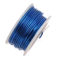 Artistic Wire, Silver Plated Craft Wire 20 Gauge Thick, 6 Yard Spool, Blue Color