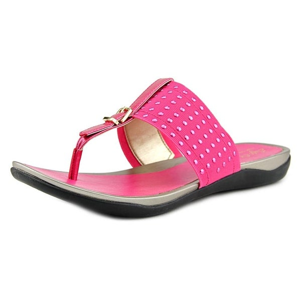 Soft Style by Hush Puppies Rini Open Toe Canvas Thong Sandal