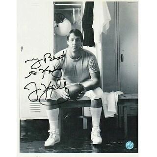"Autographed Jim Kelly Buffalo Bills 8x10 Photo inscribed ""My Best to Katy"""