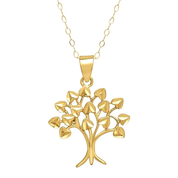 Just Gold Tree of Love Pendant in 10K Yellow Gold
