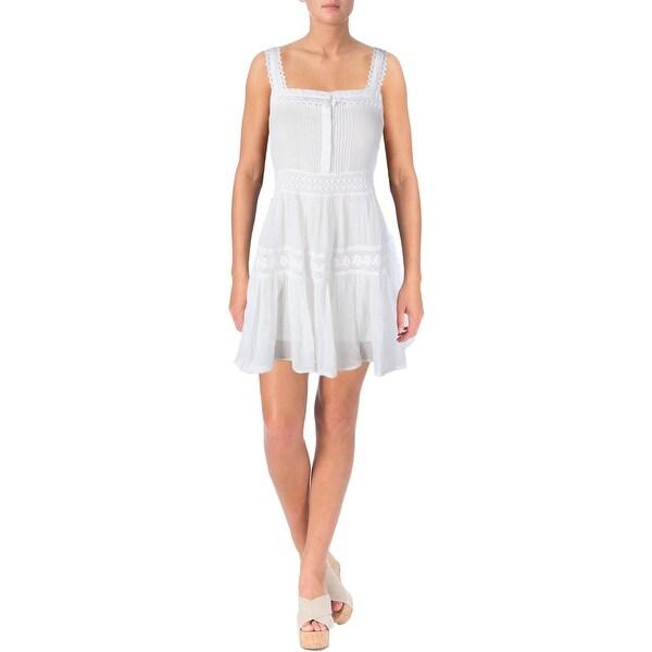 bb6c14dfec Shop Polo Ralph Lauren Womens Sheer Crochet Detail Dress Swim Cover ...