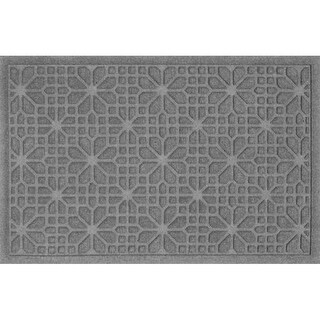 707570023 Water Guard Stained Glass Mat in Medium Grey - 2 ft. x 3 ft.