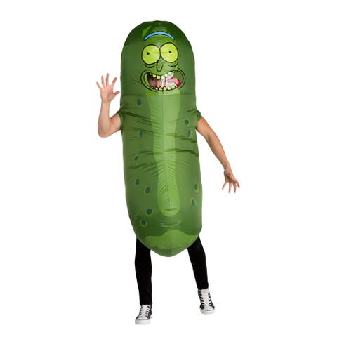 Adult Rick and Morty Inflatable Pickle Rick Costume - Standard - One Size