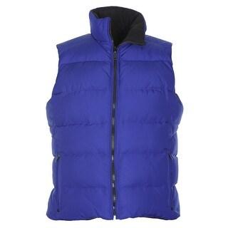 Ralph Lauren Active Womens Reversible Down Fill Puffer Vest Blue X-Small