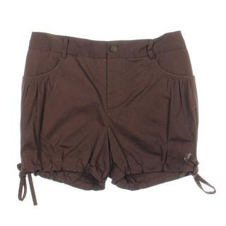 Catherine Malandrino Womens Poplin Cinched Casual Shorts - 4