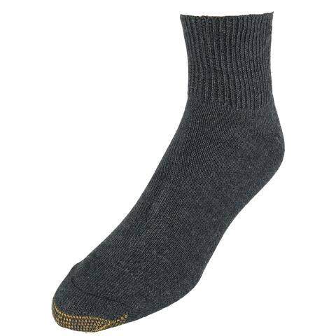 Gold Toe Men's Non Binding Bamboo Blend Quarter Socks (2 Pair Pack)