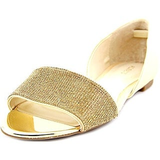 A. Isszee2 D'Orsay Sparkle Flats - Neutral Bling, Neutral Bling, Size 8.5