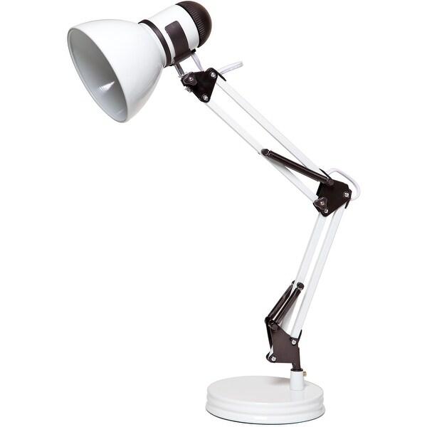 Boston Harbor TL-WK-134E-WH-3L Swing Arm Desk Lamp, White