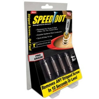 Ontel products1000246 Speed Out Damaged Screw Extractor, 4 Piece