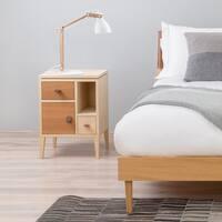 LED Swing Arm Desk Lamp, 4-Level Dimmer, Natural Wood Design