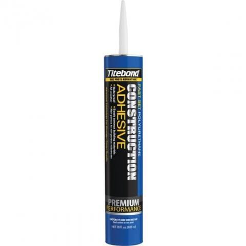Titebond 4222 Fast Set Polyurethane Construction Adhesive, 28 Oz