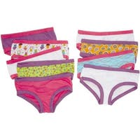 Fruit Of The Loom Girls 4-8 Hipster Panty - 9 Pack - Multi