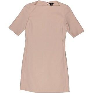 Theory Womens Harkin Short Sleeve Boat Neck Wear to Work Dress