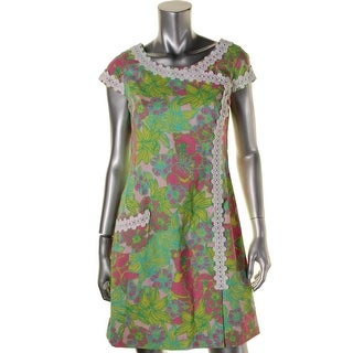 LILLY PULITZER Womens Maci Cotton Embroidered Wear to Work Dress - 4