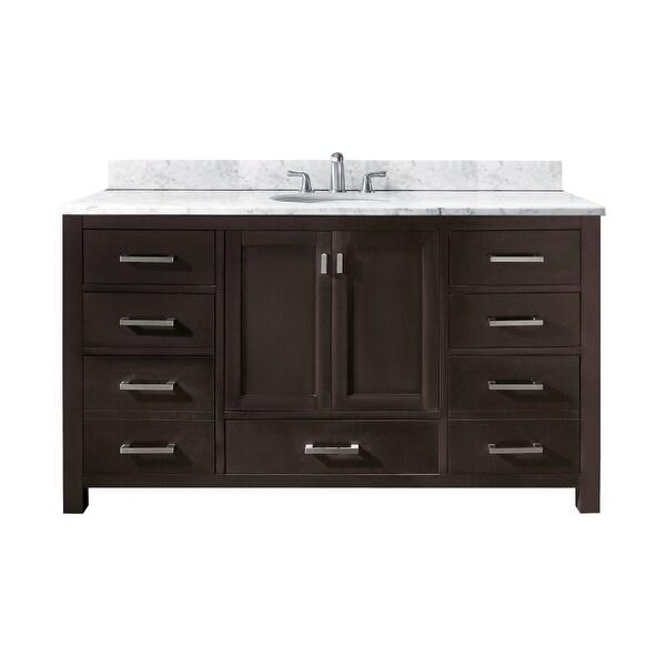 shop avanity modero v60 a modero 60 bathroom vanity cabinet only rh overstock com bathroom vanities cabinet only 24 Bathroom Vanity Foremost