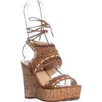 Ivanka Trump Zader Wedge Sandals, Medium Brown - 6 us