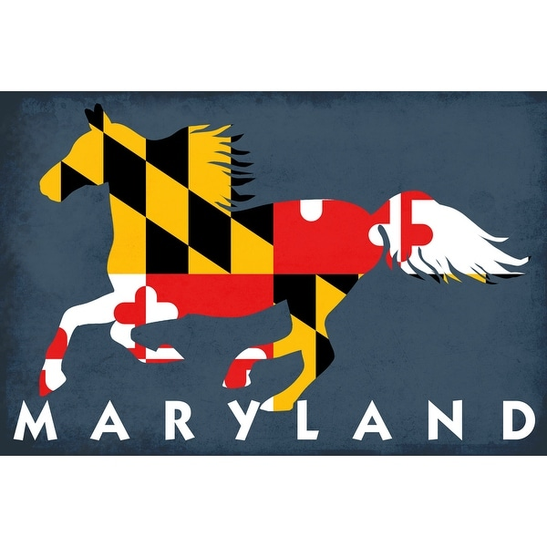MD - Horse Flag - LP Artwork (100% Cotton Towel Absorbent)