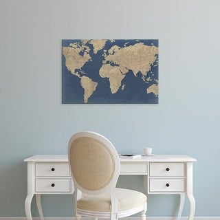 Easy Art Prints Studio W's 'Linen Map I' Premium Canvas Art