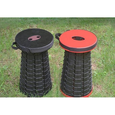 Black retractable stool red folding chair easier taken outdoor seat portable stool