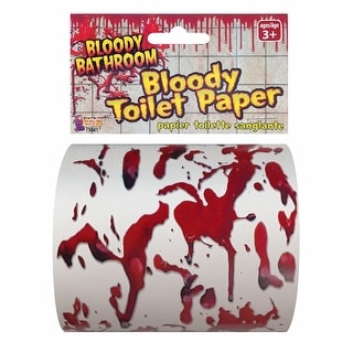 Bloody Bathroom Toilet Paper Halloween Décor