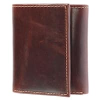 CTM® Men's Oil Pull Up Leather Trifold Wallet - one size