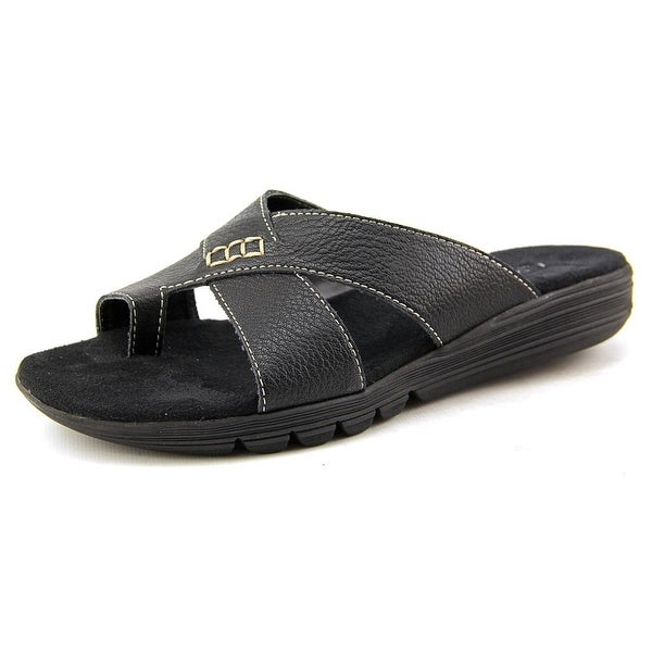 Aerosoles Adjustment Open Toe Leather Slides Sandal
