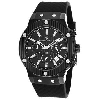 Christian Van Sant Men's Monarchy CV8120 Black Dial Watch