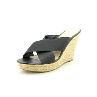 Marc Fisher Engage Open Toe Canvas Wedge Sandal