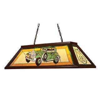 Landmark Lighting 70122-4 Tiffany Four Light Down Lighting Island / Billiard Fixture from the Tiffany Game Room Collection