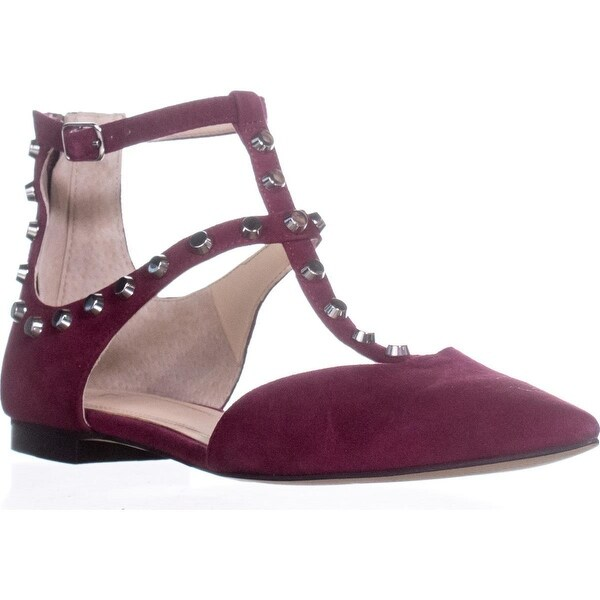 Marc Fisher Sava Pointed Toe Ankle Strap Sandals, Dark Pink Suede