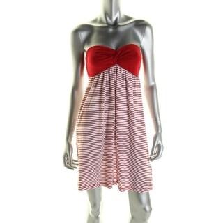 Ralph Lauren Womens Striped Strapless Sundress - M