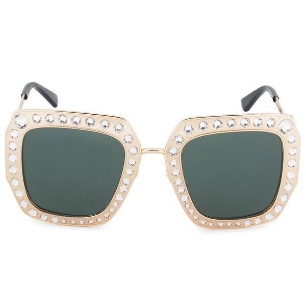 ec9994587d2 Shop Gucci Gucci Square Polarized Sunglasses GG0115S 006 52 - Free Shipping  Today - Overstock - 27983852