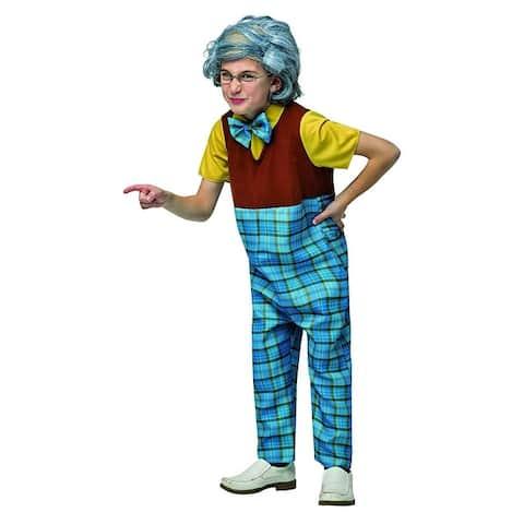 Grandpa Child's Costume: 4-6 - Blue