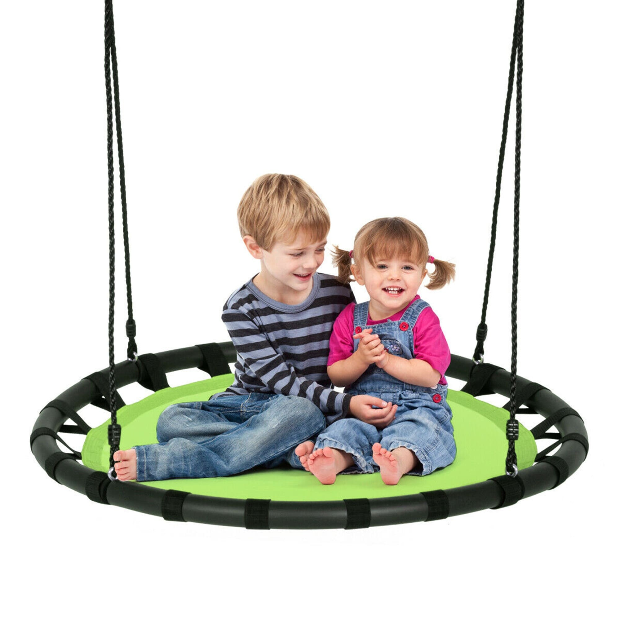 Gymax 40 Flying Saucer Round Tree Swing Kids Play Set W Adjustable Overstock 32300311