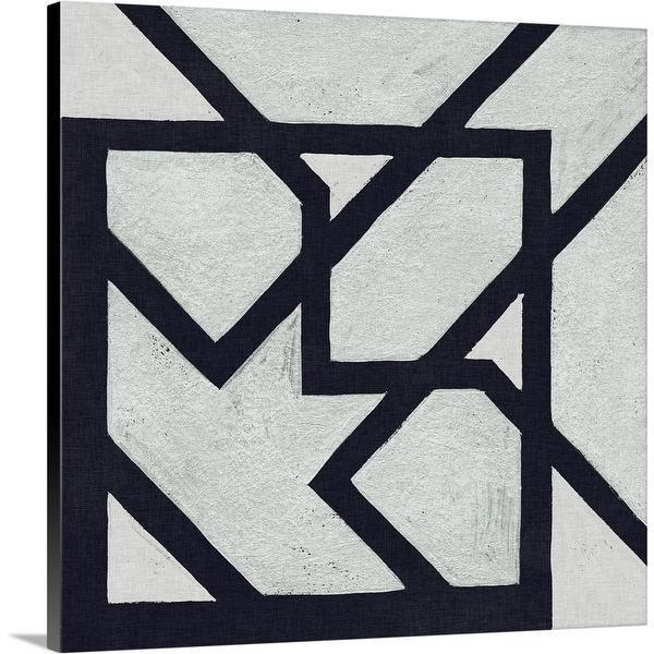 """Broken Square III"" Canvas Wall Art"