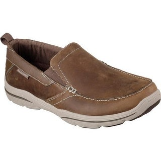 Skechers Men's Relaxed Fit Harper Forde Loafer Desert Brown