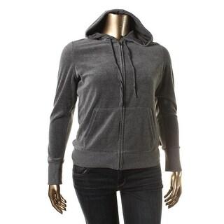 Jenni Womens Velour Long Sleeves Track Jacket
