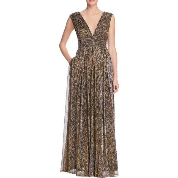 Shop Aidan By Aidan Mattox Womens Formal Dress Metallic V Neck
