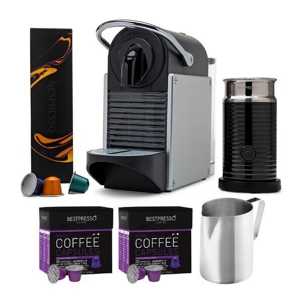Nespresso Pixie Original Espresso Machine with Aeroccino Bundle. Opens flyout.