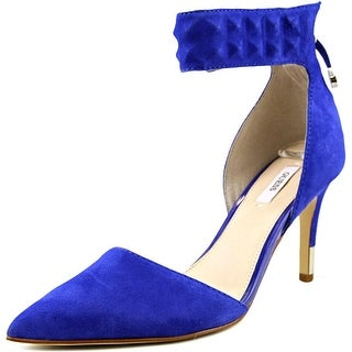 Guess Evanne Women Open-Toe Suede Blue Heels