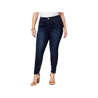 Melissa McCarthy Seven7 Womens Plus Pencil Jeans Slimming High Rise