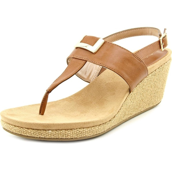 Style & Co Maryana Women Open Toe Synthetic Brown Wedge Sandal