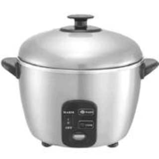 Sunpentown SC-887 6 Cup Rice Cooker and Steamer - Stainless Steel
